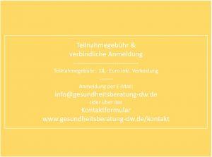 Anmeldeformular für Vortrag in Uhlbach Daniela Weh Gesundheitsberaterin