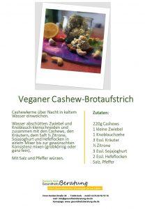 Veganer Cashew-Brotaufstrich Daniela Weh Gesundheitsberatung