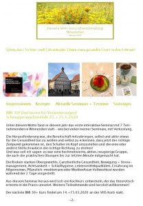 Newsletter Februar 2020 Daniela Weh Gesundheitsberatung