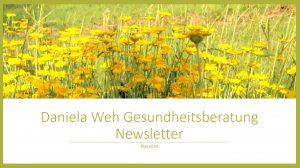 Newsletter Mai 2020 Daniela Weh Gesundheitsberatung