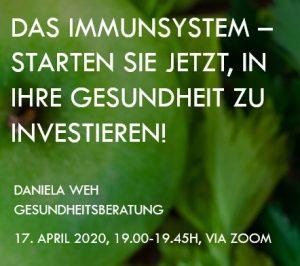 Vortrag: Das Immunsystem - Daniela Weh Gesundheitsberatung
