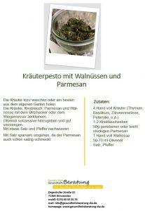 Rezept Kräuterpesto - Daniela Weh Gesundheitsberatung