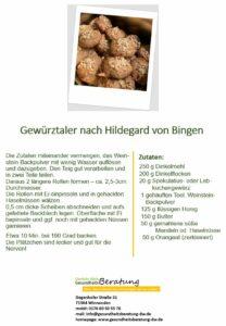 Gewürztaler nach Hildegard von Bingen